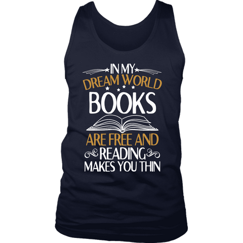 """In My Dream World"" Men's Tank Top - Gifts For Reading Addicts"