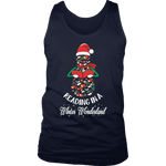 """Reading in a winter wonderland"" Men's Tank Top - Gifts For Reading Addicts"
