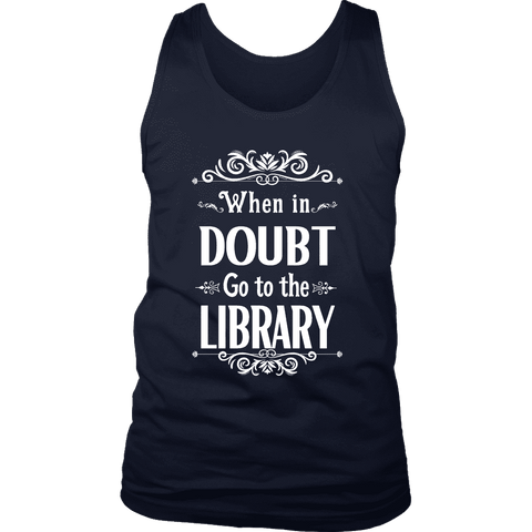 """When in doubt"" Men's Tank Top - Gifts For Reading Addicts"