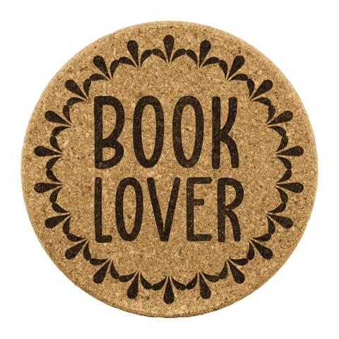 """Book Lover""Round Cork Coaster - Gifts For Reading Addicts"
