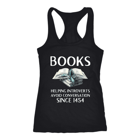 """Books"" Women's Tank Top - Gifts For Reading Addicts"