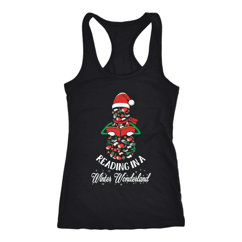 """Reading in a winter wonderland"" Women's Tank Top"