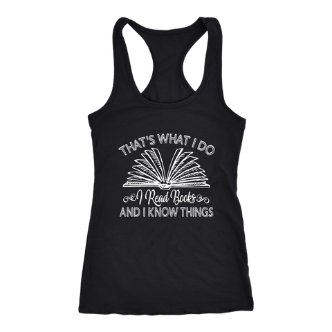 """I Read Books"" Women's Tank Top - Gifts For Reading Addicts"