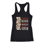 """I Read"" Women's Tank Top - Gifts For Reading Addicts"