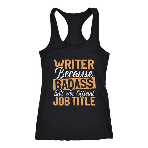 """badass isn't an official job title"" Women's Tank Top - Gifts For Reading Addicts"