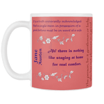 Jane Austen Quotes Mug - Gifts For Reading Addicts