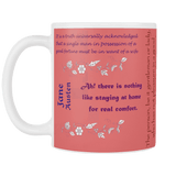 Jane Austen Quotes Mug-For Reading Addicts