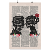 Pride and prejudice vintage dictionary poster