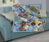 Alice In Wonderland Book Covers Quilt - Gifts For Reading Addicts
