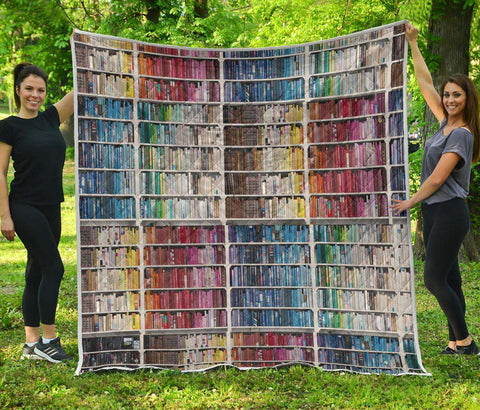 Bookshelf Bookish Quilt - Gifts For Reading Addicts