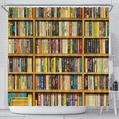 Bookshelf Bookish Curtain - Gifts For Reading Addicts