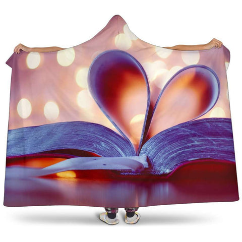 heart shaped book pages hooded blanket - Gifts For Reading Addicts