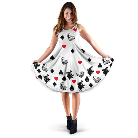 White Alice In Wonderland Midi-Dress - Gifts For Reading Addicts