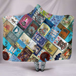 Alice In Wonderland Book Covers Hooded Blanket - Gifts For Reading Addicts