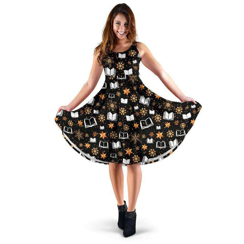 Bookish Christmas Women's Dress - Gifts For Reading Addicts
