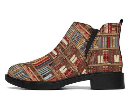 Bookish Pattern Fashion Boots - Gifts For Reading Addicts