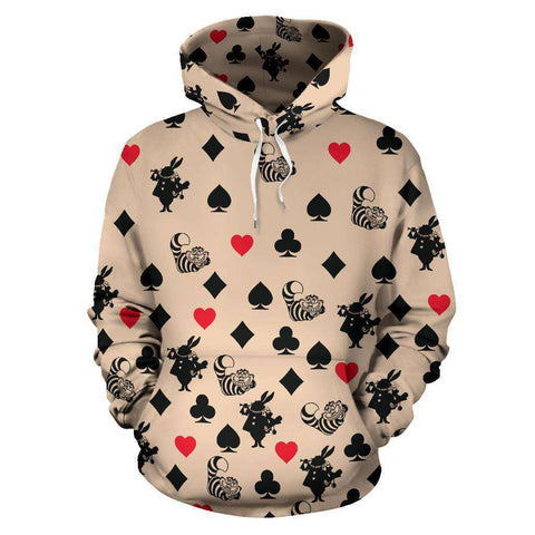 Alice In Wonderland All Over Print Hoodie - Gifts For Reading Addicts