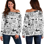 Bookish Off Shoulder Sweater - Gifts For Reading Addicts