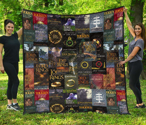 The Lord Of The Rings Books Covers Quilt - Gifts For Reading Addicts