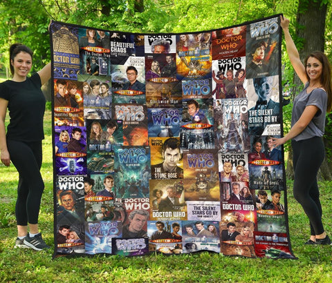"""Doctor Who""Book Covers Quilt - Gifts For Reading Addicts"