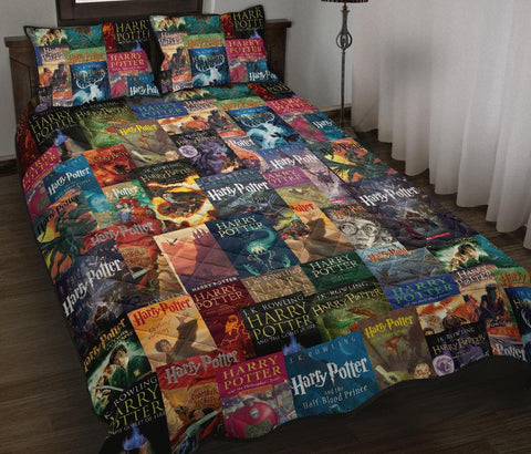 HP Book Covers Quilt Bed - Gifts For Reading Addicts