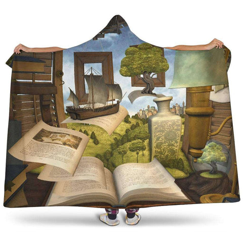 book world hooded blanket - Gifts For Reading Addicts