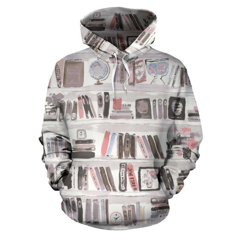 Bookish All Over Print Hoodie - Gifts For Reading Addicts