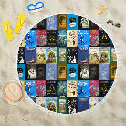 Books Bookish Round Blanket - Gifts For Reading Addicts
