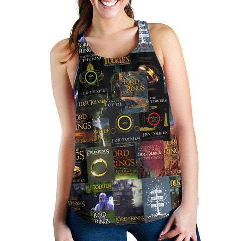 The Lord Of The Rings Book Covers Women's Tank - Gifts For Reading Addicts