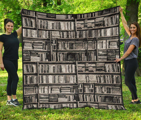 Bookish Pattern Quilt - Gifts For Reading Addicts
