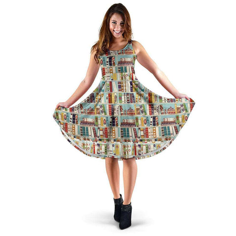 Bookish Pattern Midi-Dress - Gifts For Reading Addicts