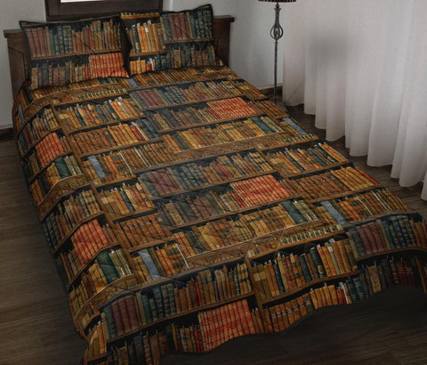 Bookish Pattern Quilt Bed - Gifts For Reading Addicts