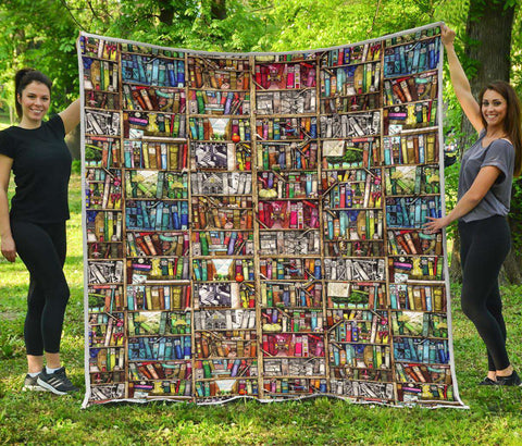 Bookish Bookshelf Quilt - Gifts For Reading Addicts