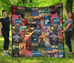 HP Book Cover Pattern Quilt - Gifts For Reading Addicts