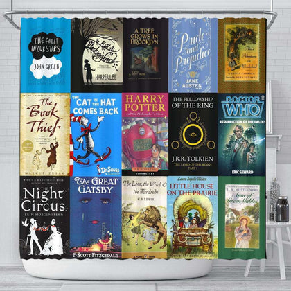 Books Bookish Curtain - Gifts For Reading Addicts