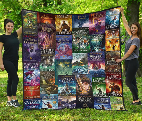 Rick Riordan(Percy Jackson & Magnus Chase)Book Covers quilt - Gifts For Reading Addicts