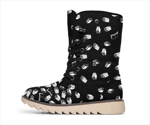 Black Bookish Polar Boots - Gifts For Reading Addicts