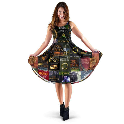 The Lord Of The Rings Book Cover Dress - Gifts For Reading Addicts