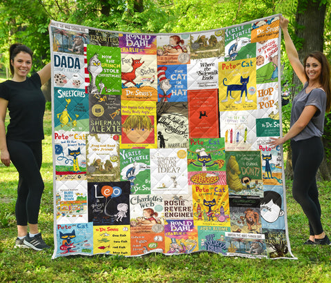 Children's Books Quilt - Gifts For Reading Addicts