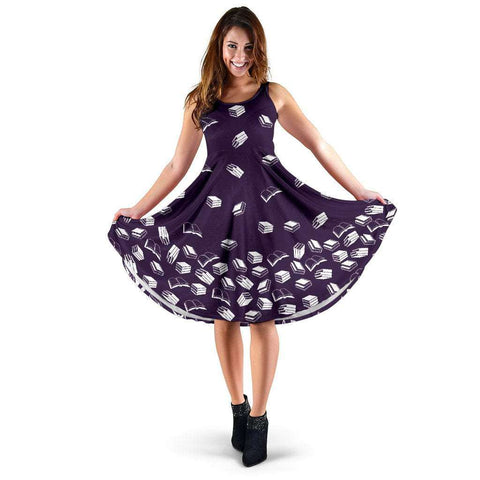 Purple Bookish Midi-Dress - Gifts For Reading Addicts