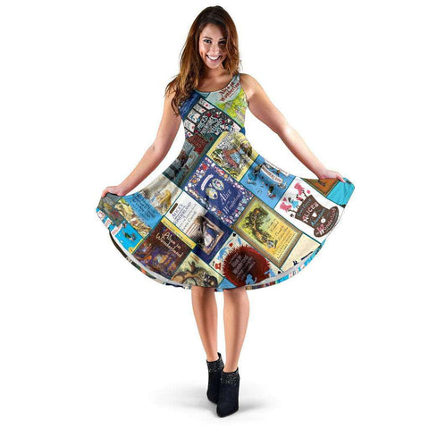 Alice In Wonderland Book Covers Dress - Gifts For Reading Addicts