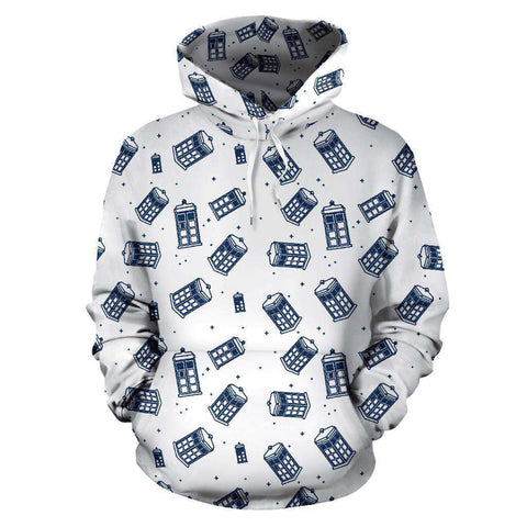 Doctor Who All Over Print Hoodie - Gifts For Reading Addicts