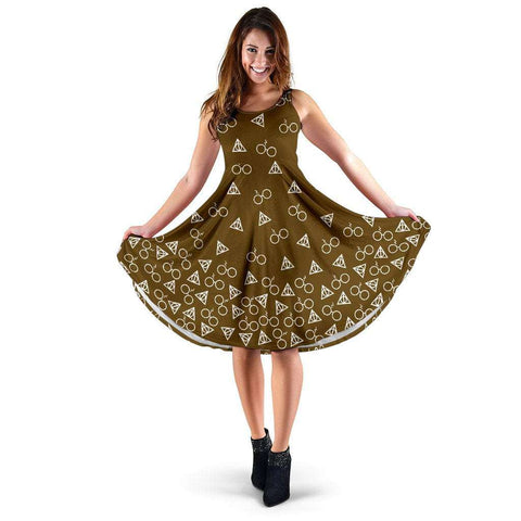 Dark Yellow Harry Potter Midi-Dress - Gifts For Reading Addicts