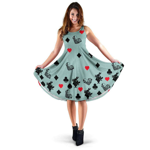 Blue Alice In Wonderland Midi-Dress - Gifts For Reading Addicts