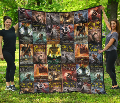 Cassandra Clare Shadowhunter series Book Covers Quilt - Gifts For Reading Addicts