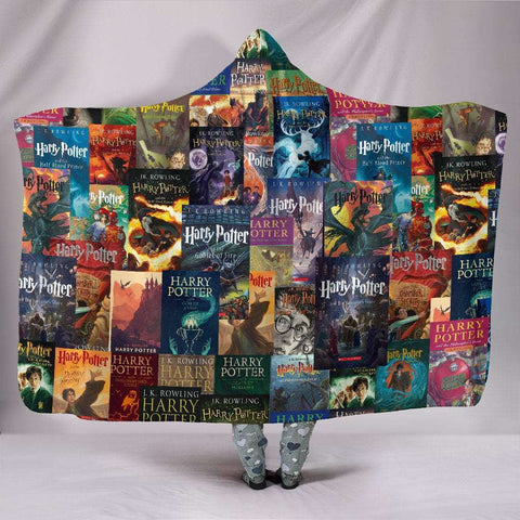 HP Book Cover Hooded Blanket - Gifts For Reading Addicts