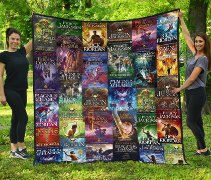 Rick Riordan(Percy Jackson & Magnus Chase) quilt - Gifts For Reading Addicts