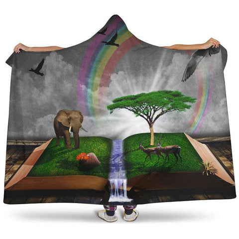 open book magic hooded blanket