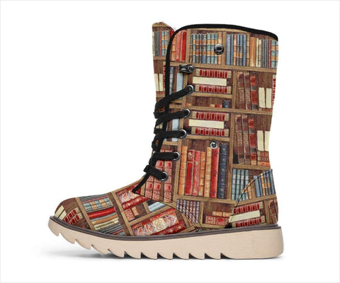 Bookish Pattern Polar Boots - Gifts For Reading Addicts