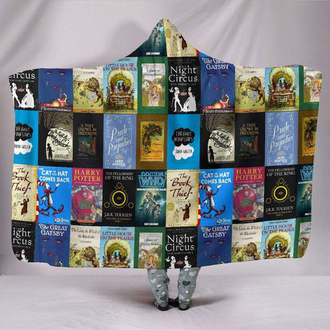 Books Bookish Hooded Blanket - Gifts For Reading Addicts